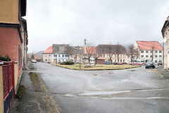 2016-03-06 - Kravare,捷克共和国-在一个小村庄Kravare摆正 免版税库存照片