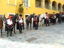 Kravat cavalryman guard change Royalty Free Stock Images
