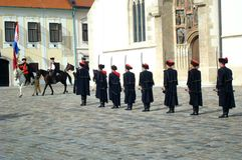 Kravat pułku strażnika zmiana Fotografia Royalty Free
