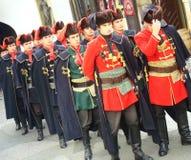 Kravat Regiment-Abdeckungänderung Stockbild