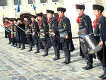 Kravat regiment guard change Stock Images