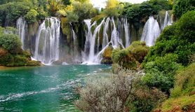 Kravica vattenfall Arkivfoto