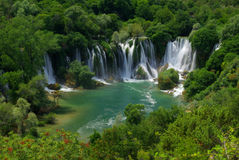 Kravica waterfall stock photography