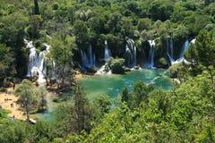 Kravice瀑布和Trebizat河在波黑 图库摄影