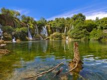 Kravice瀑布在波黑 免版税图库摄影