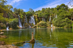 Kravice vattenfall i Bosnien och Hercegovina Arkivbild