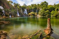 Kravice vattenfall i Bosnien och Hercegovina Fotografering för Bildbyråer