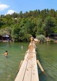 Kravice-Wasserfälle stockbild