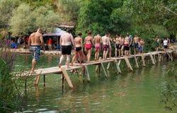 Kravice-Wasserfälle lizenzfreie stockfotografie