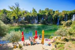 Kravice-Wasserfälle in Bosnien und Herzegowina stockfotografie