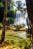 Kravice-Wasserfall und Trebizat-Fluss in Bosnien Lizenzfreies Stockbild