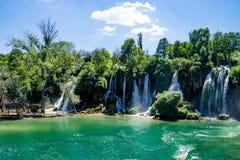 Kravice-Wasserfall und Trebizat-Fluss in Bosnien Lizenzfreies Stockfoto