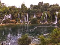 Kravice waterfall. In Bosnia and Herzegovina Royalty Free Stock Photos