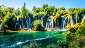 Kravice waterfall on Trebizat River in Bosnia and Herzegovina Stock Photos