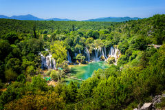 Kravice waterfall on Trebizat River in Bosnia and Herzegovina Stock Images