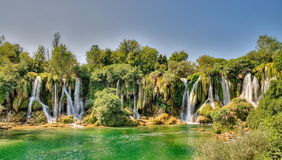 Kravice waterfalls Royalty Free Stock Image