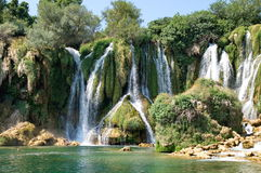 Kravice waterfalls Royalty Free Stock Photo