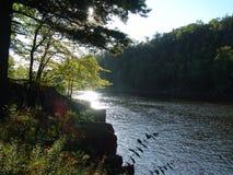 krawędzi rzeki Fotografia Royalty Free