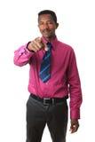 krawat amerykański biznesmen odizolowywający krawat Zdjęcia Stock