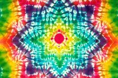 Krawat farbował wzór na bawełnianej tkaninie dla tła Zdjęcia Royalty Free