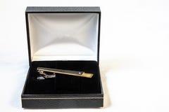 Krawat klamerka w pudełku Zdjęcie Royalty Free