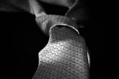 Krawat od pięćdziesiąt cieni szarość Obraz Royalty Free