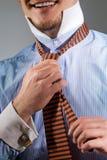 krawat target1372_0_ wiązać Zdjęcia Royalty Free