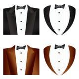 Krawata czarny i czarny Smoking Fotografia Royalty Free