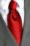 krawata czerwony koszulowy biel Zdjęcia Stock