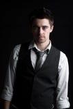 krawata przyglądający męski koszulowy mądrze waistcoat zdjęcie stock
