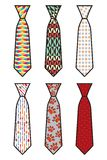 Krawata set Zdjęcia Stock