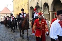 Krawatten-Regiment an einer Zeremonie, die den Tag der Bindung markiert Lizenzfreies Stockfoto