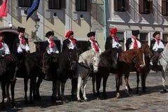 Krawatten-Regiment an einer Zeremonie, die den Tag der Bindung markiert Stockfotos