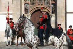 Krawatten-Regiment an einer Zeremonie, die den Tag der Bindung markiert Stockbild