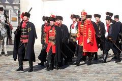 Krawatten-Regiment an einer Zeremonie, die den Tag der Bindung markiert Stockfotografie