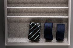 Krawaty w pudełku Obraz Royalty Free