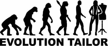 Krawiecki ewolucja wektor ilustracja wektor