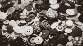 Krawiectwo warsztat Set roczników guziki Zdjęcie Royalty Free