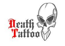 Kreśląca czaszka antyczny potwór lub demon Obrazy Royalty Free