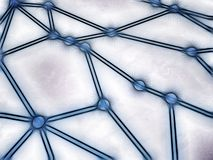 Kreśląca sieć z łączącymi guzkami royalty ilustracja