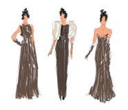 Kreślący mod kobiet modele royalty ilustracja