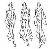Kreślący moda modele ilustracja wektor