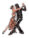 Kreślący tancerze ilustracja wektor