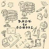 Kreśli ilustrację na szkolnym temacie, projekt szkolni tematy a Zdjęcie Stock
