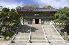 Krean Buddhism temple stock photo