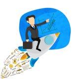 Kreativ beginnen Sie oben infographic Plan des Geschäfts lizenzfreie abbildung
