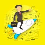 Kreativ beginnen Sie oben infographic Plan des Geschäfts vektor abbildung