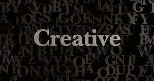 Kreativ - 3D übertrug metallische gesetzte Schlagzeilenillustration vektor abbildung