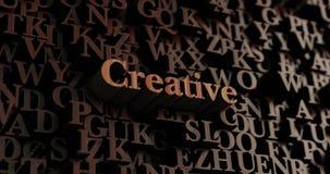 Kreativ - hölzernes 3D übertrug Buchstaben/Mitteilung stock abbildung