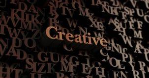 Kreativ - hölzernes 3D übertrug Buchstaben/Mitteilung vektor abbildung